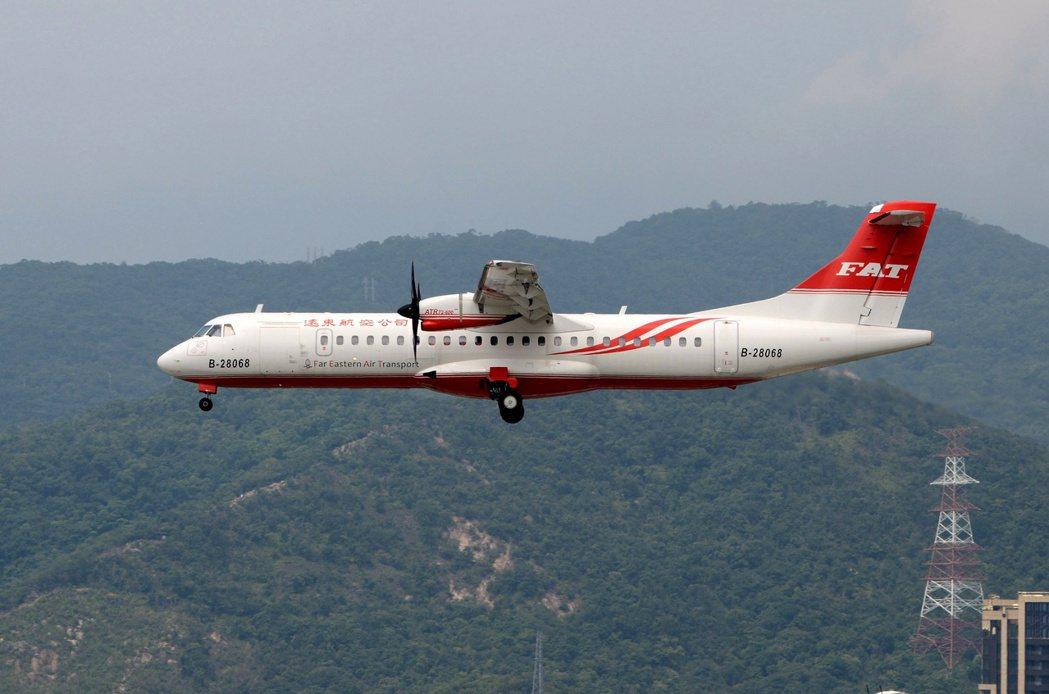 遠航ATR72-600新機隊明天首航,到11月底送出5折優惠機票兌換券。圖/遠航...