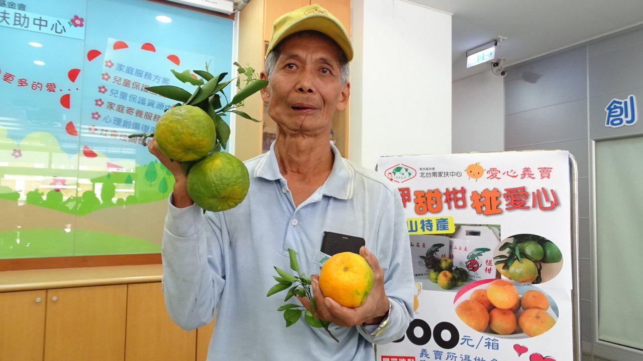 椪柑達人伍國賢捐百箱椪柑傳愛。記者謝進盛/攝影