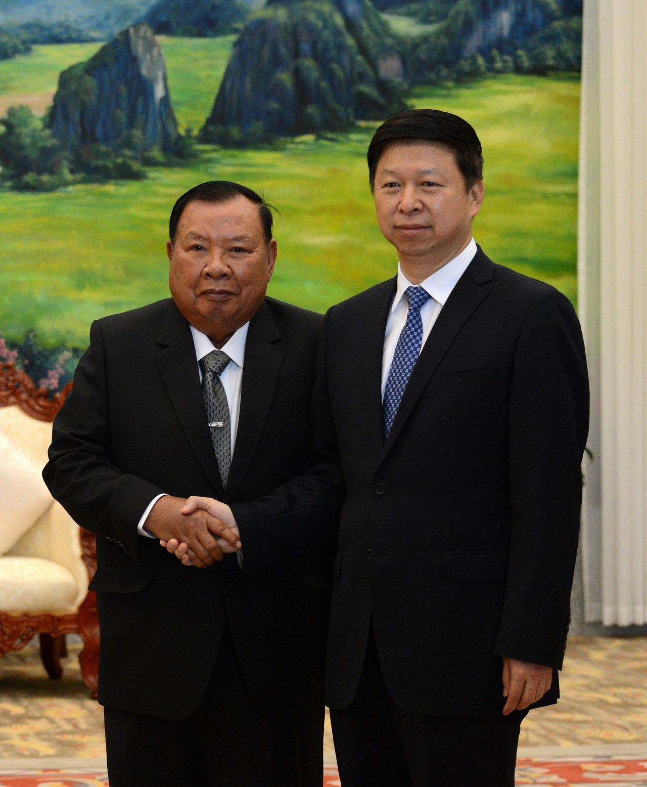 大陸中聯部部長宋濤(右)將赴北韓。新華社