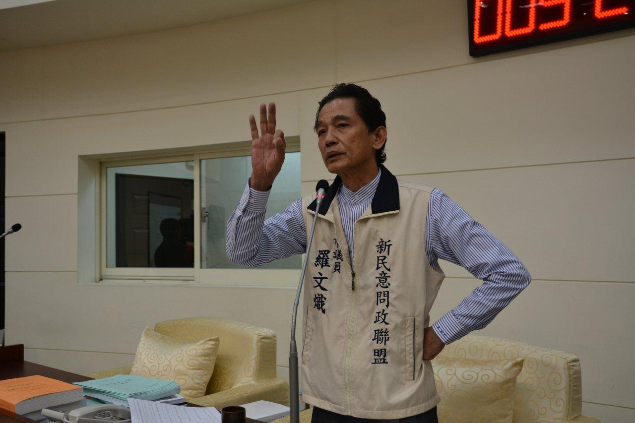 新竹市議員羅文熾質詢市府選舉考量明年要花6千萬辦「開竹300年系列活動」,用「天...