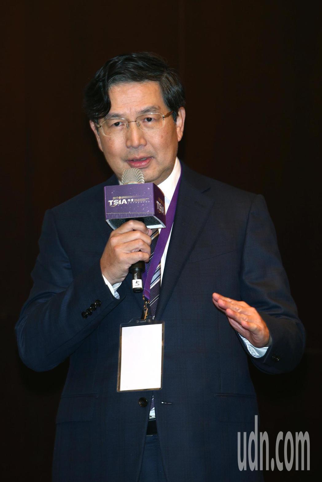 台積電資訊長左大川下午出席「台灣半導體產業協會TSIA年會」。記者蘇健忠/攝影