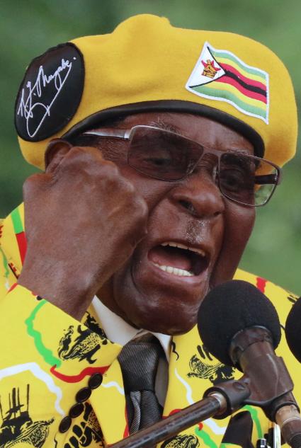 辛巴威總統穆加比。路透