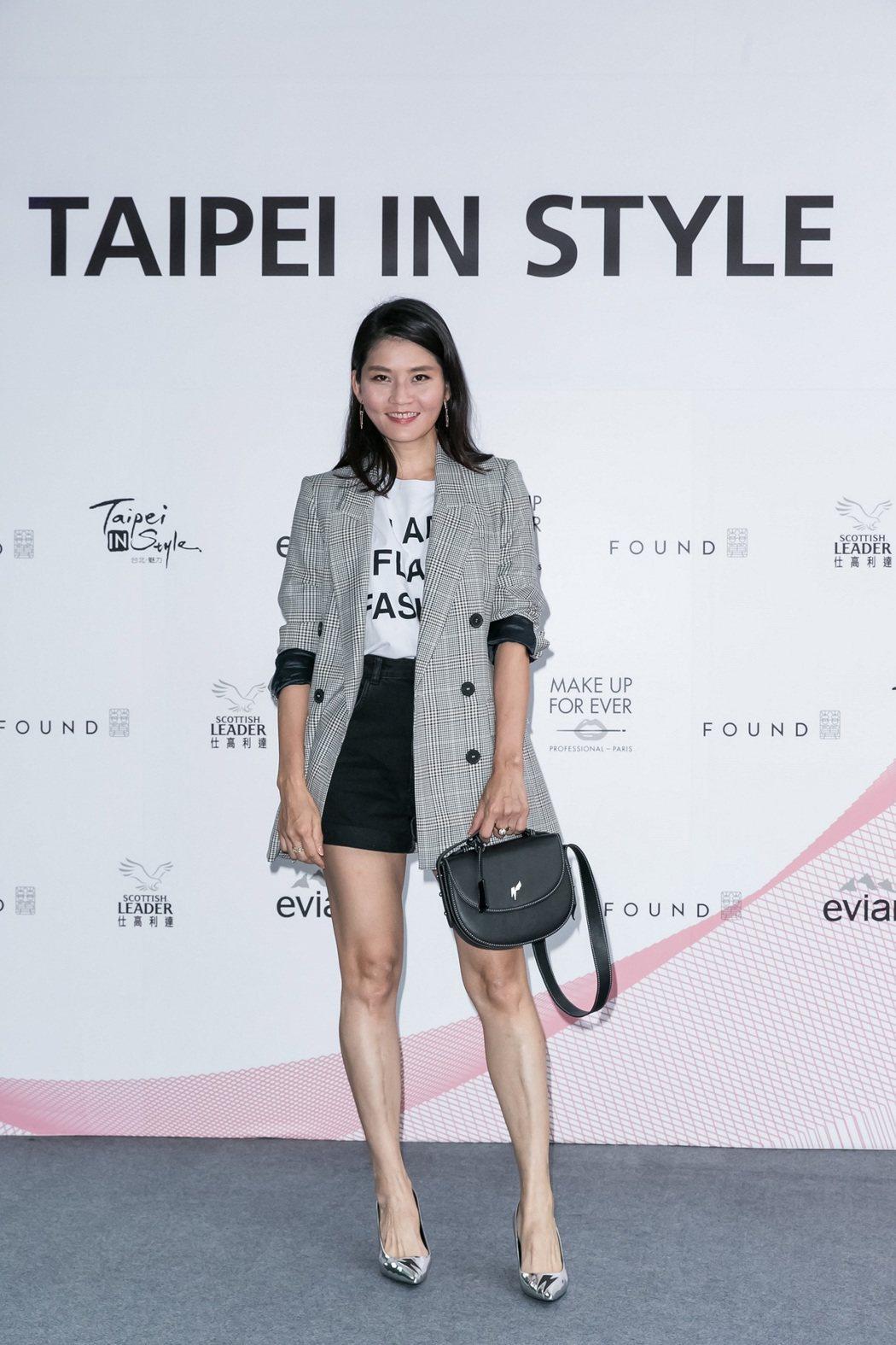 知名造型師陳璧君為2017台北魅力展站台。圖/紡拓會提供