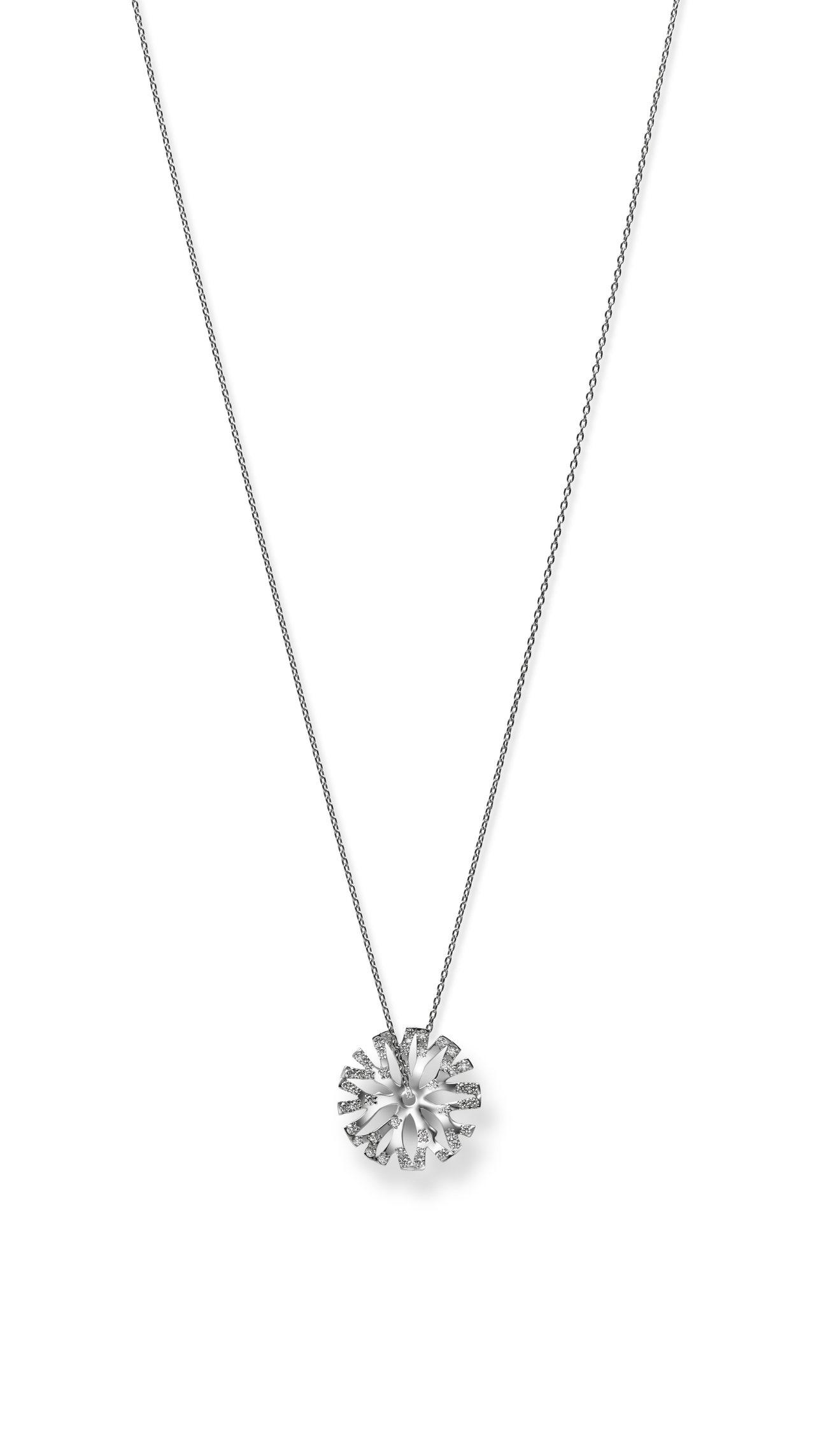 Coral Collection 18K白金鑽石墜鍊,17萬7,000元。圖/M...