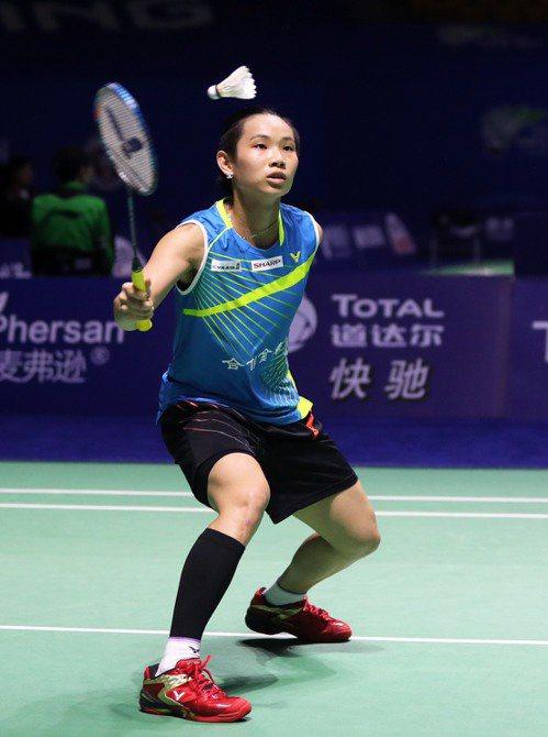 戴資穎今天在大陸頂級超羽賽上演3局逆轉勝。 圖/Badminton Photo...