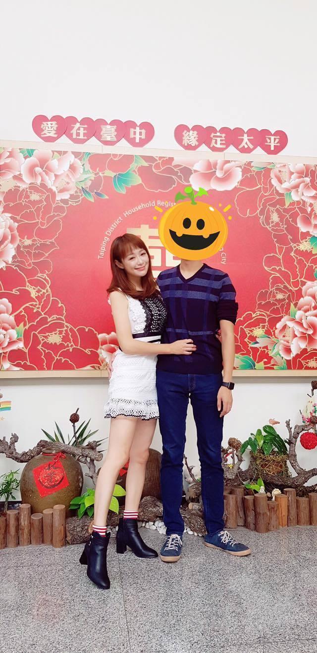 茵芙結婚了,嫁給小她3歲的何先生。圖/茵芙臉書