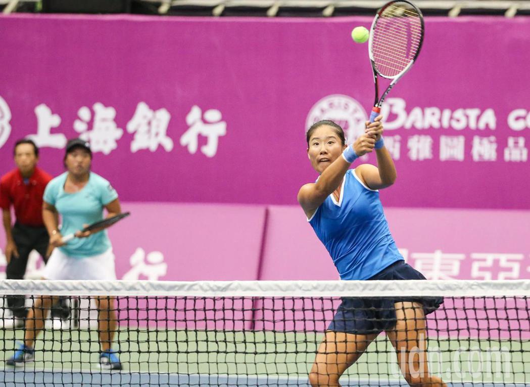 詹謹瑋(右)、梁恩碩(左)不幸落敗。記者鄭清元/攝影