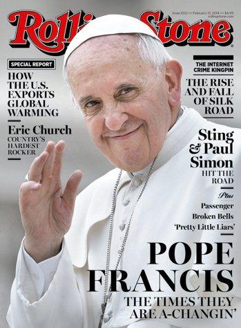 教宗方濟各是第一位登上《滾石》雜誌封面的羅馬天主教宗,他最近勸告教友在彌撒時不要...