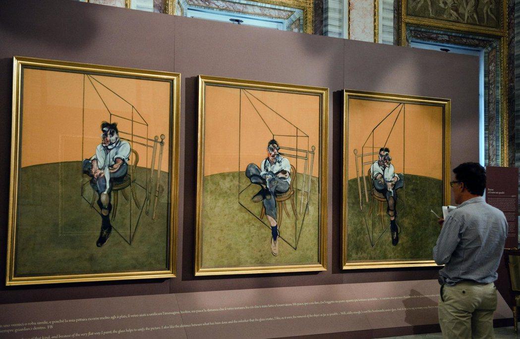 培根「佛洛伊德肖像三習作」2013年成交價:1.424億美元。 (法新社)