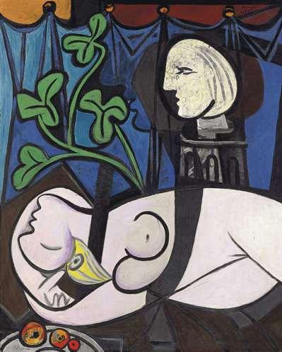 畢卡索「裸體、綠葉和半身像」2010年成交價:1.064億美元。 (路透)