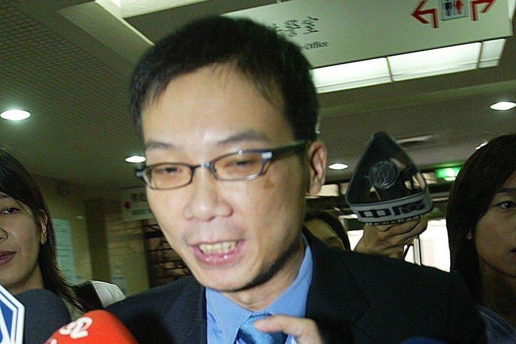 2006年,前總統府副祕書長馬永成出席陳哲男司法黃牛案作證。 本報資料照