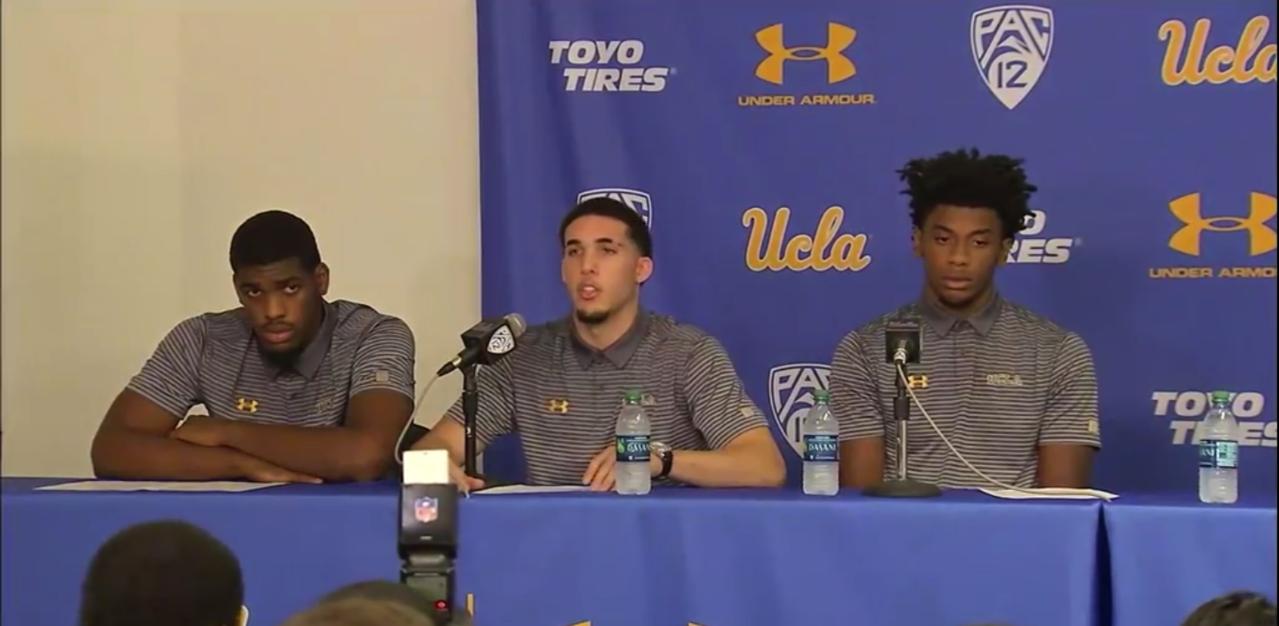 UCLA11月在中國偷竊遭到拘捕的2名籃球員萊里(右)、希爾(左),本季判處禁賽...