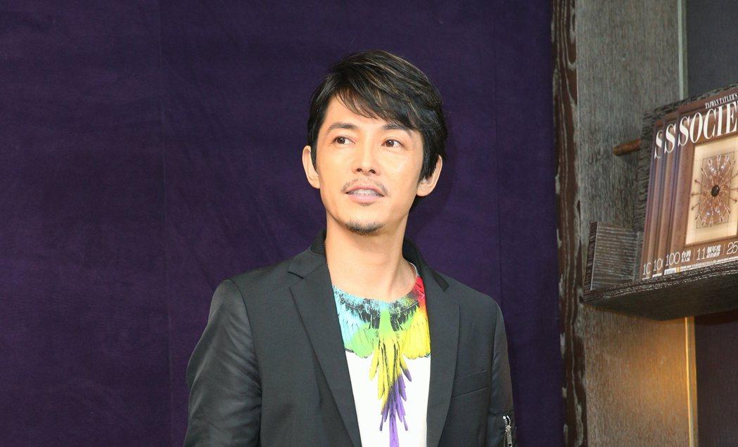 日本男星藤木直人與媒體暢談此行心情。記者陳正興/攝影