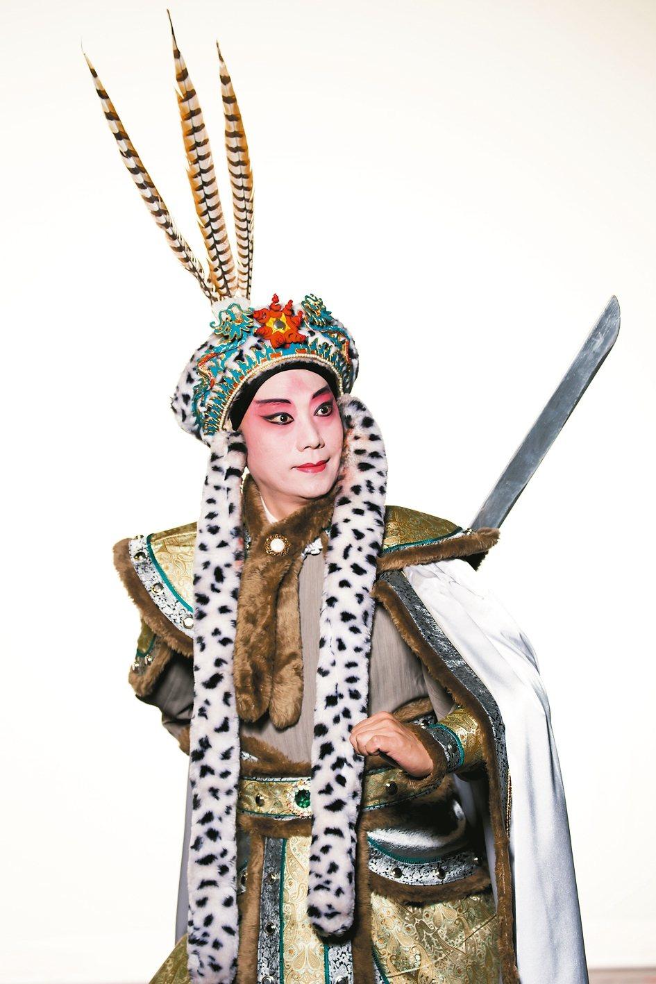 趙揚強在《蔡文姬》擔綱演出。 圖/國立台灣戲曲學院提供