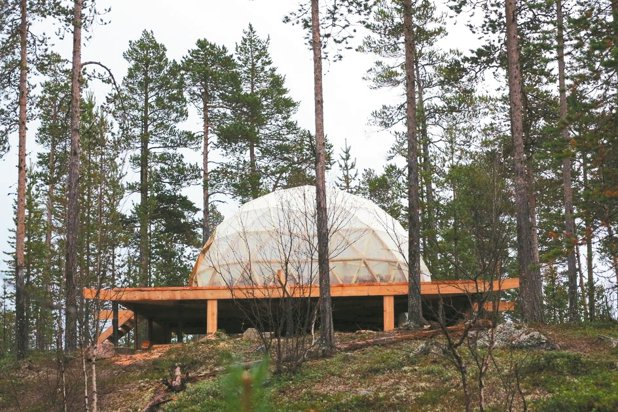 ATC極光旅行社斥資上億資金,在荒野中全新打造賞極光的小木屋與溫暖小屋。 陳志光...
