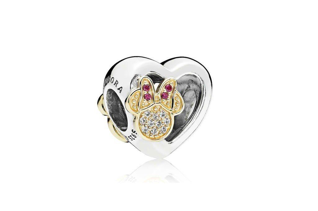 米奇與米妮愛的象徵14K金鋯石串飾NT$5,580