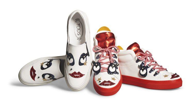 Circus聯名限定系列女小丑休閒板鞋25,200元(左);女小丑高筒休閒鞋30...