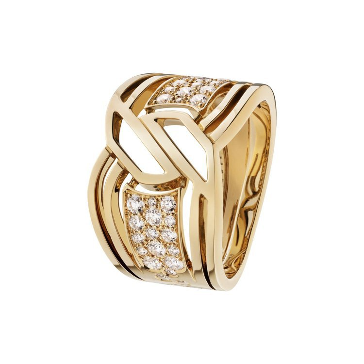 My Golden Link戒指,18K黃金鑲嵌36顆明亮式切割鑽石,26萬2,...