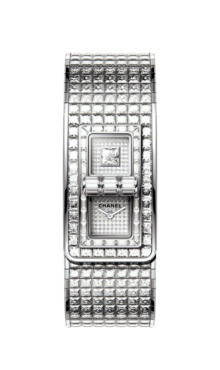 Code Coco全鑽腕表,18K白金鑲嵌鑽石共524顆、56.47克拉,3,2...