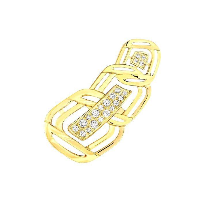 My Golden Link耳環,18K黃金鑲嵌21顆明亮式切割鑽石,25萬1,...