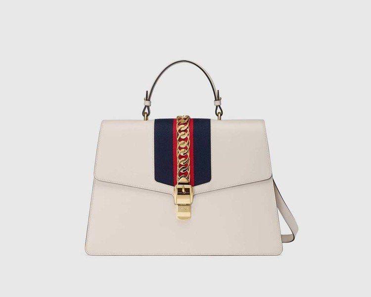 Sylvie織帶裝飾提包(大),16萬200元。圖/Gucci提供
