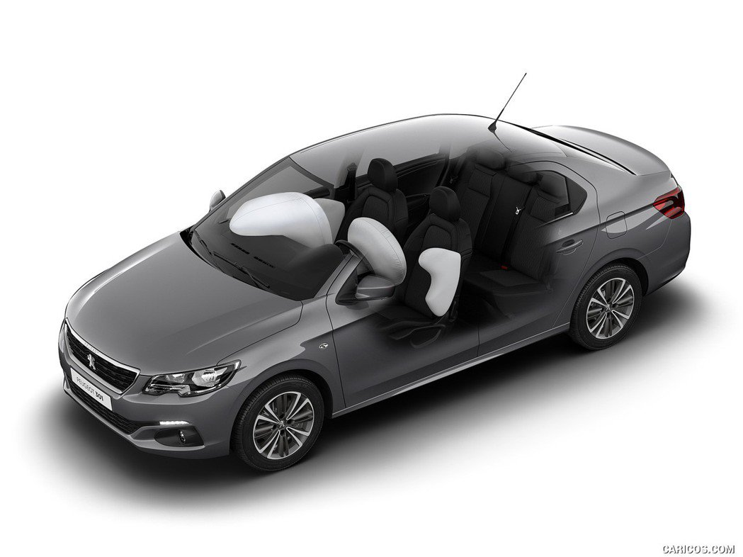 Peugeot 301標配四具氣囊。 圖/Peugeot提供