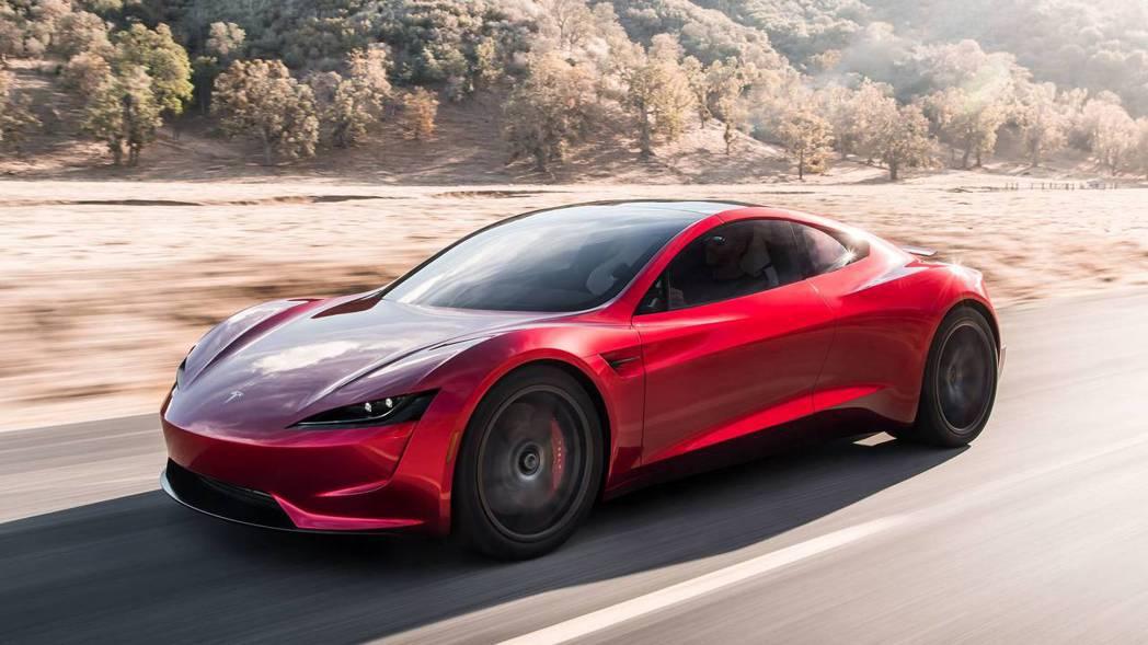 全新Tesla Roadster零百加速不到2秒就完成。 摘自Tesla