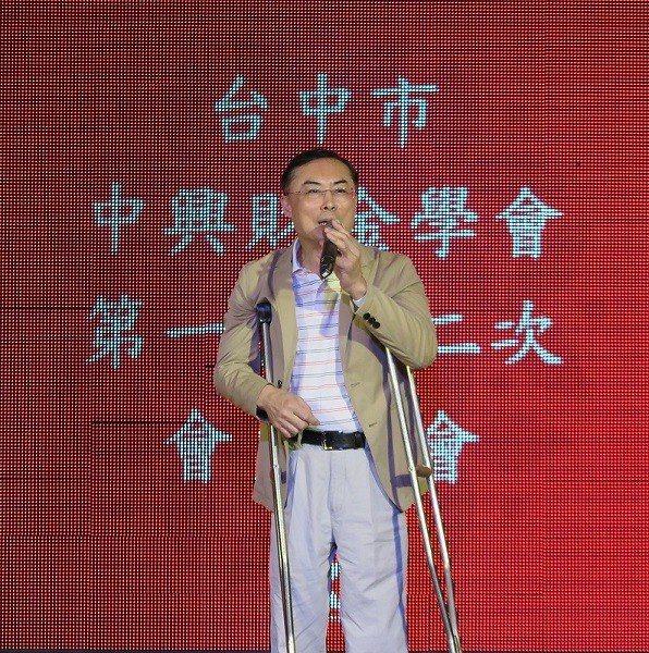 台中市中興財金學會理事長張建森。 蔣佳璘/攝影