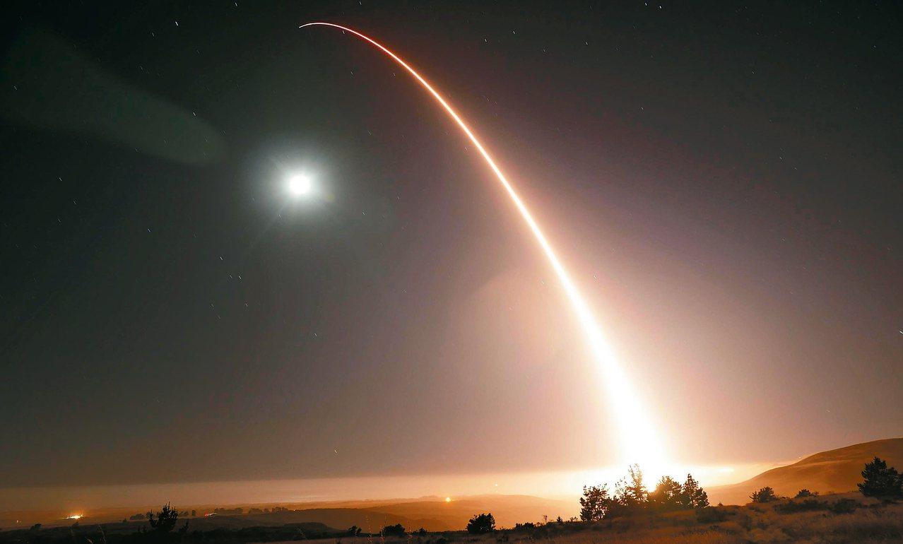 義勇兵三型洲際彈道飛彈試射檔案照。 取自美國戰略司令部網站