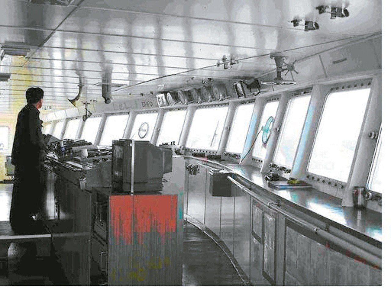 船員月薪10萬元起跳,但年輕新血不多。 圖/台北海洋技術學院航海系提供