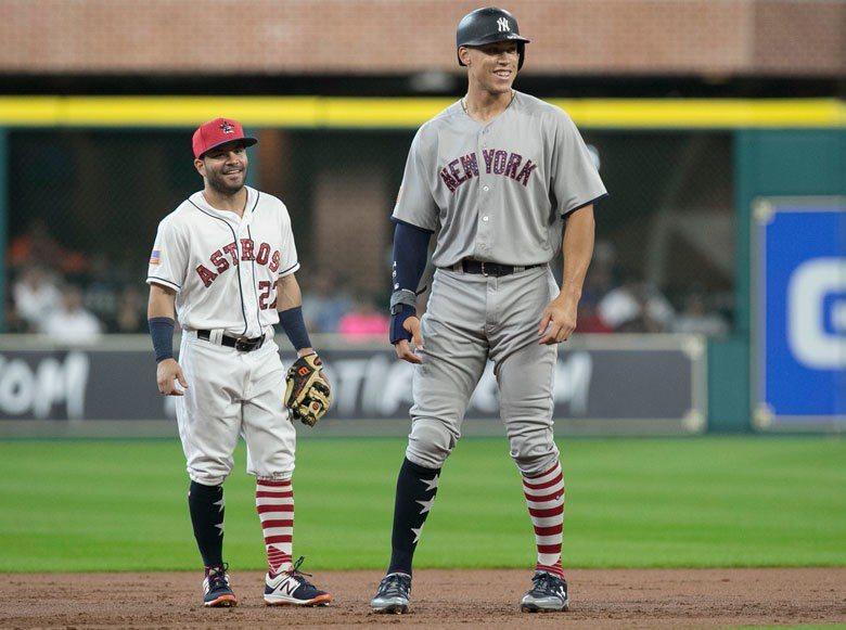 從亞土維(左)跟賈吉(右)身材的對比,相信對很多愛好棒球的球員是一大激勵:只要有...