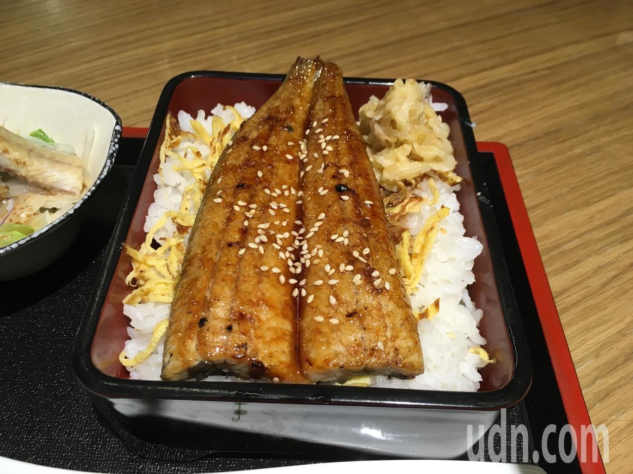 新竹「久保鰻作城」招牌鰻魚飯。記者張雅婷/攝影