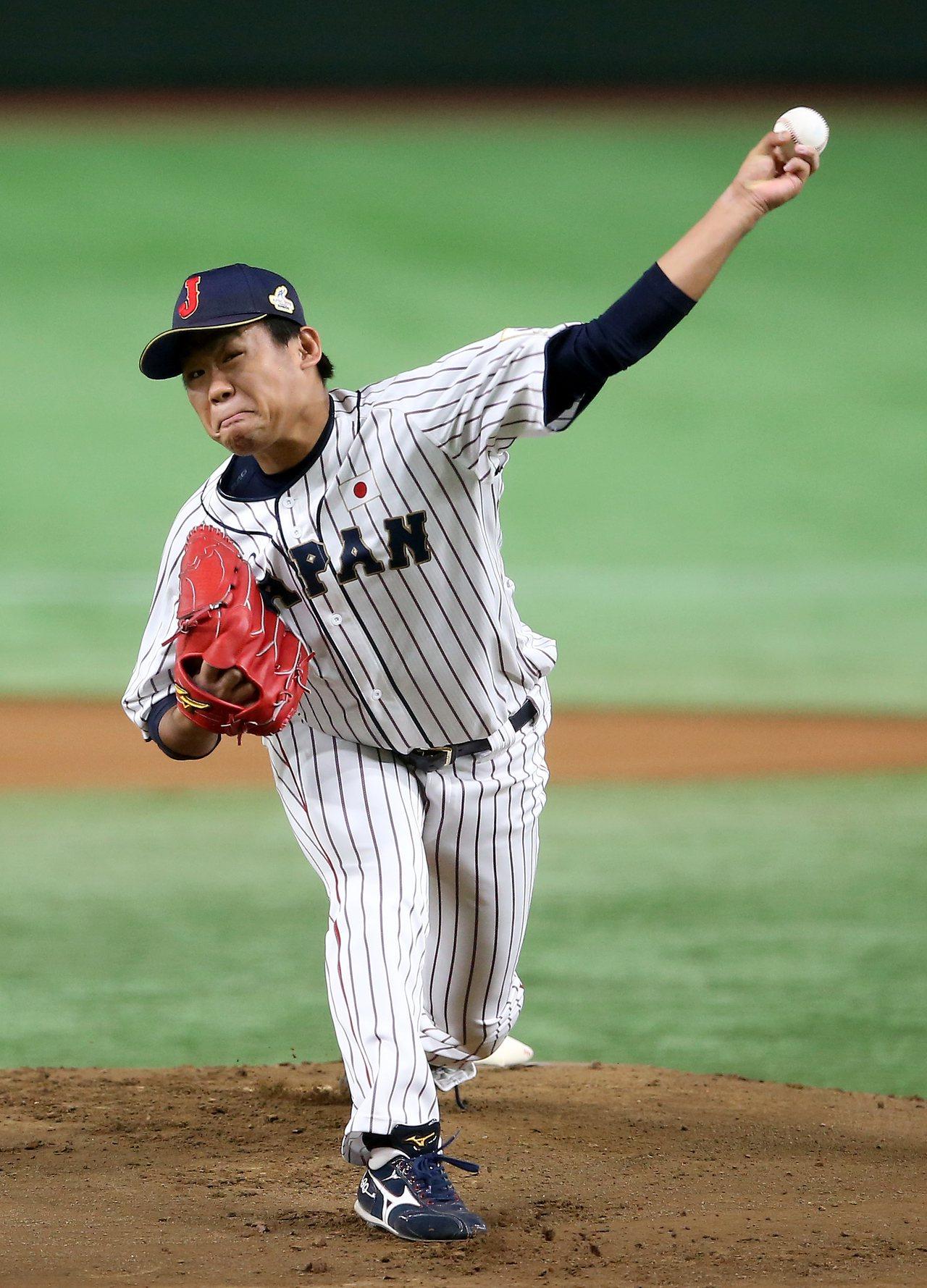 日本隊先發投手田口麗斗。記者余承翰/攝影