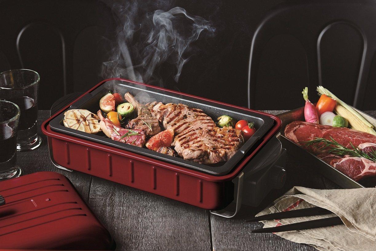 日本recolte Home BBQ電烤盤。圖/台隆手創館提供