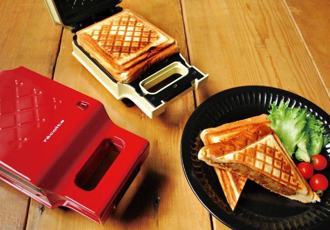 日本recolte Quilt格子三明治機。圖/台隆手創館提供
