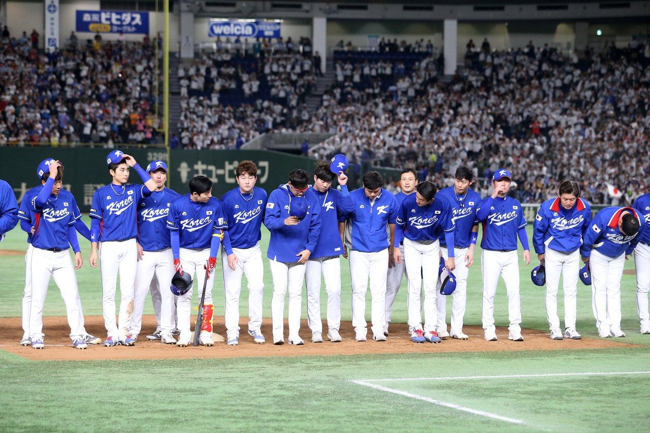 南韓隊在冠軍戰以0比7不敵日本隊。記者余承翰/攝影