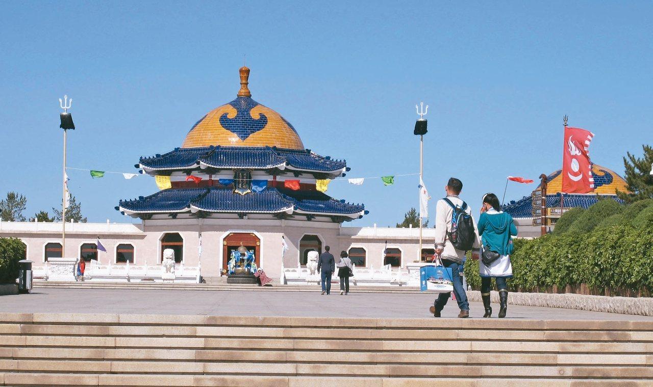 內蒙古成吉思汗陵旅遊景區。 記者章淑曼/攝影