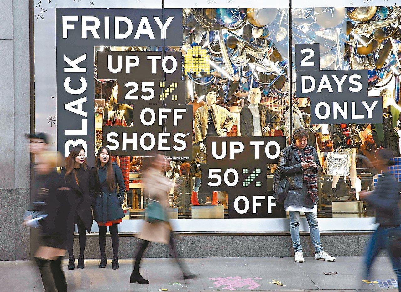 感恩節隔天的「黑色星期五」(Black Friday)購物日本周登場,將成為美國...
