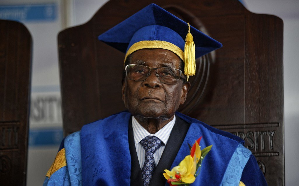 辛巴威總統穆加比。美聯社