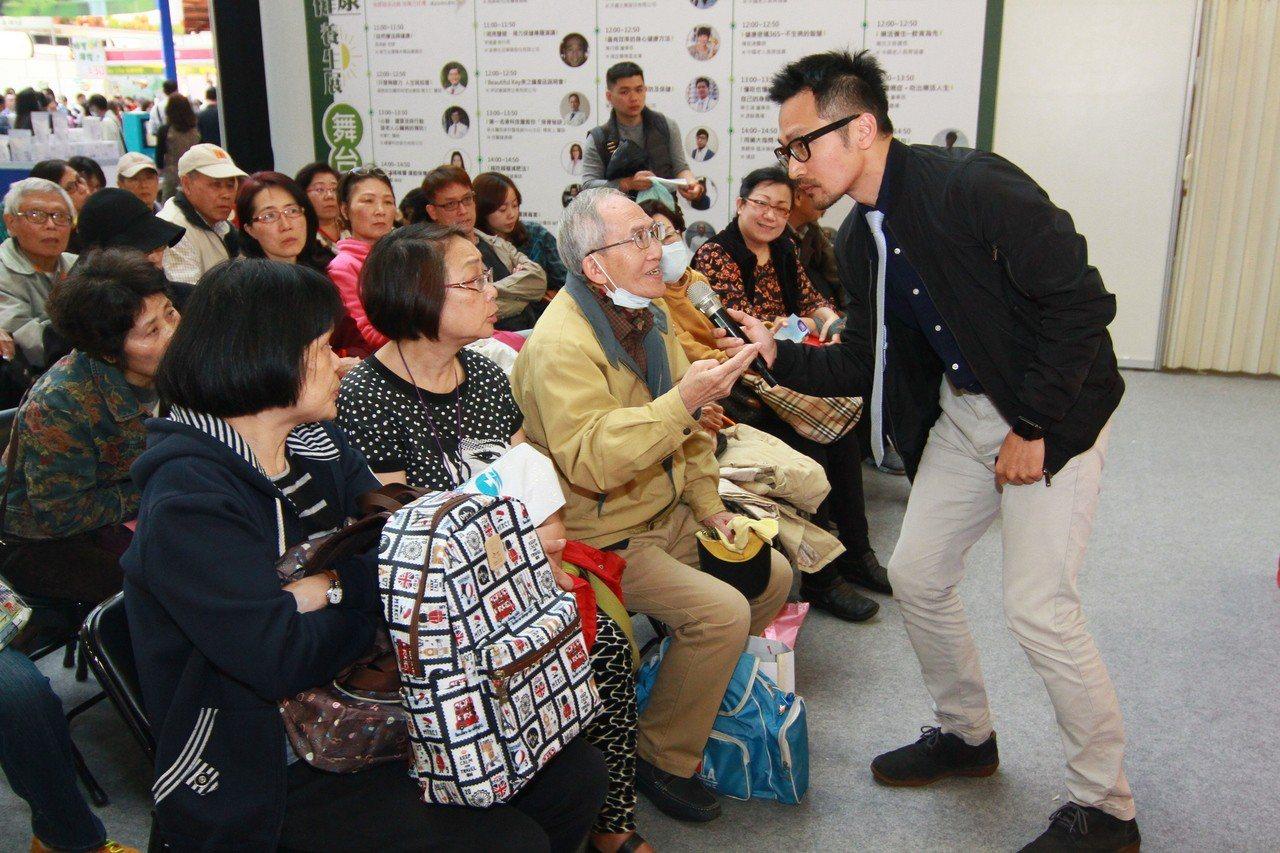 主辦單位規劃大會活動有舞臺講座,邀約多位名人養生分享。