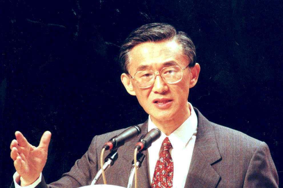 陳履安參加1996年總統大選,只拿到107萬多票落選。 本報資料照