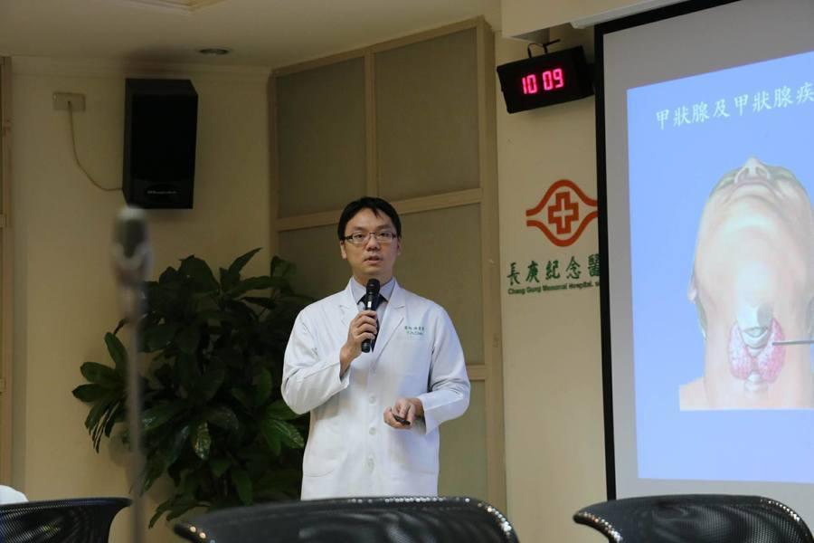 基隆長庚醫院引進自然孔甲狀腺手術,使得病患在術後免留傷疤。(photo by 黃...