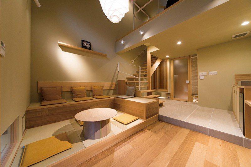 帶有設計感的客房打造融合現代感的和風溫泉旅館體驗。
