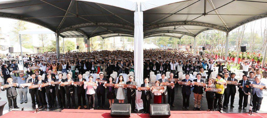 「桂田磐古」公開儀式邀請1200位貴賓。 攝影/張世雅