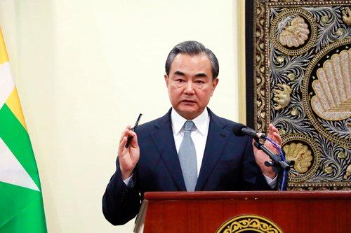 中共外交部長王毅。中共外交部官網