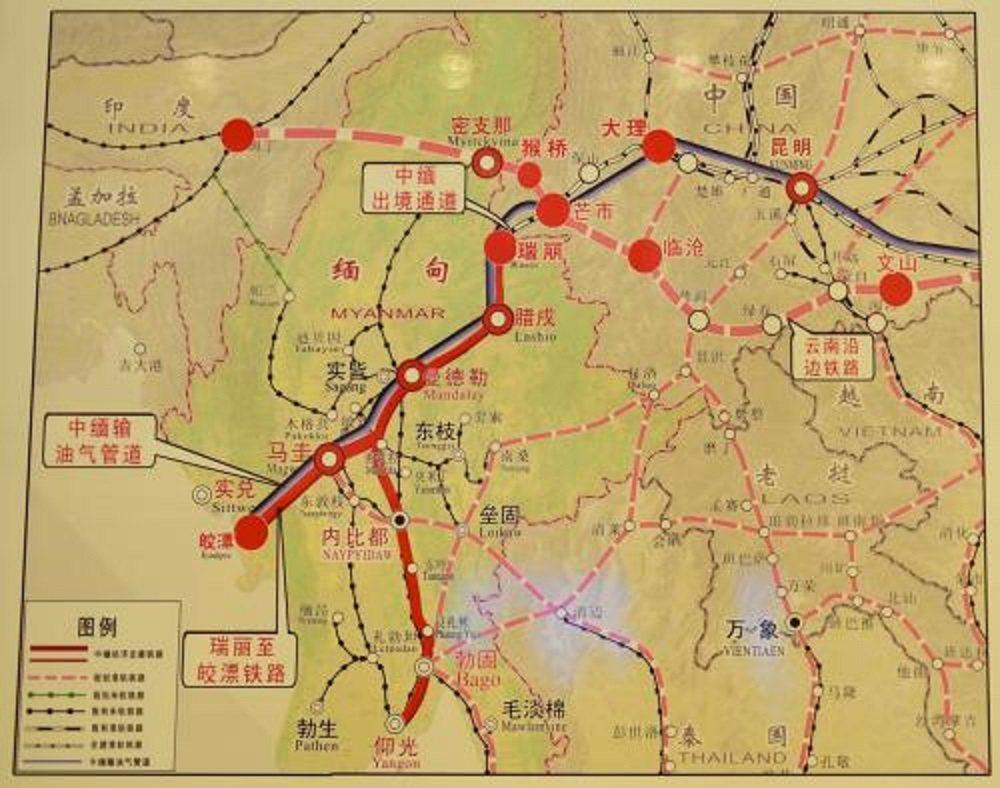 中緬經濟走廊設想。雲南德宏網