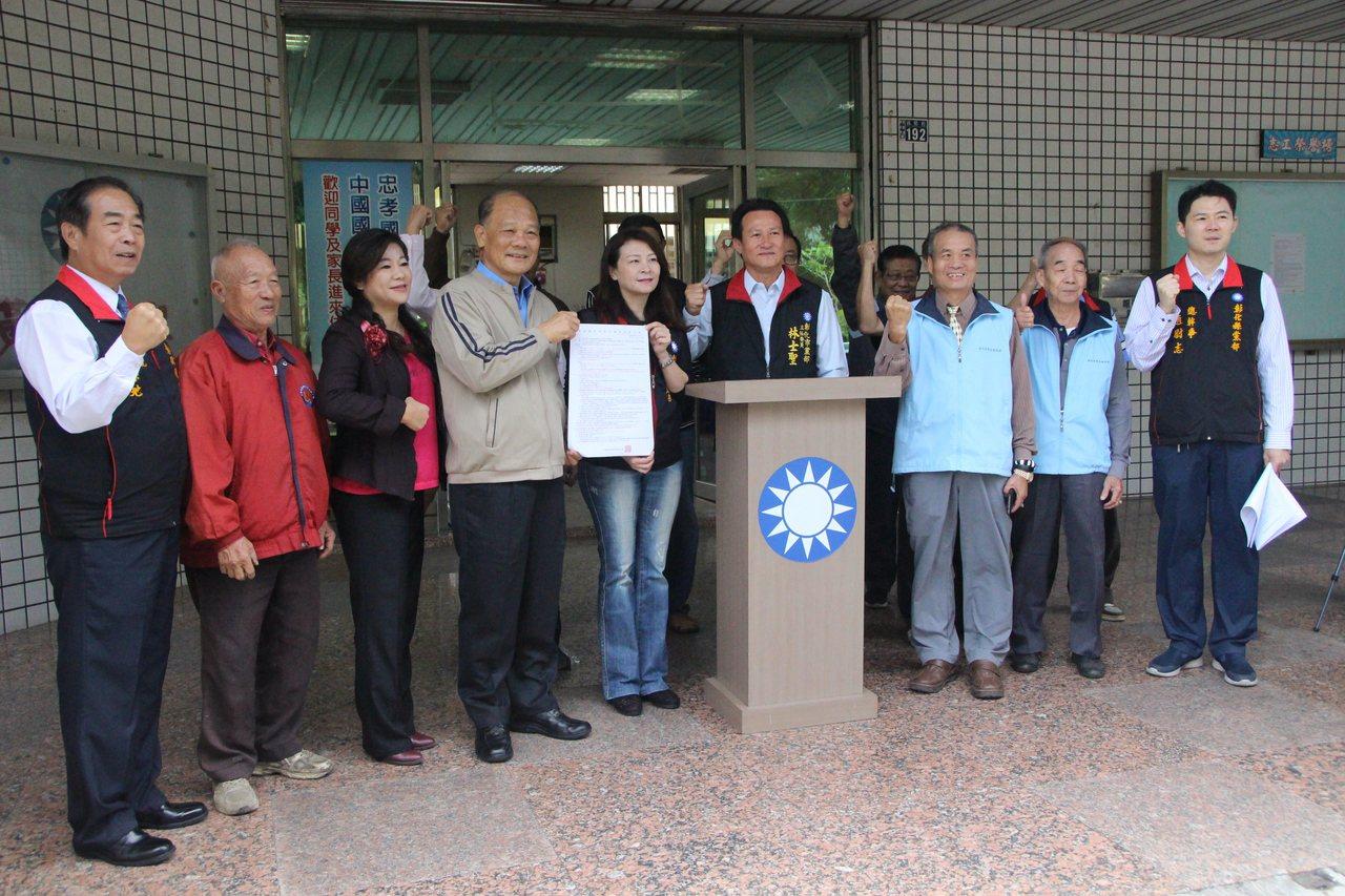 國民黨明年選戰第一個初選縣市在彰化縣,今天公告提名登記。記者林敬家/攝影