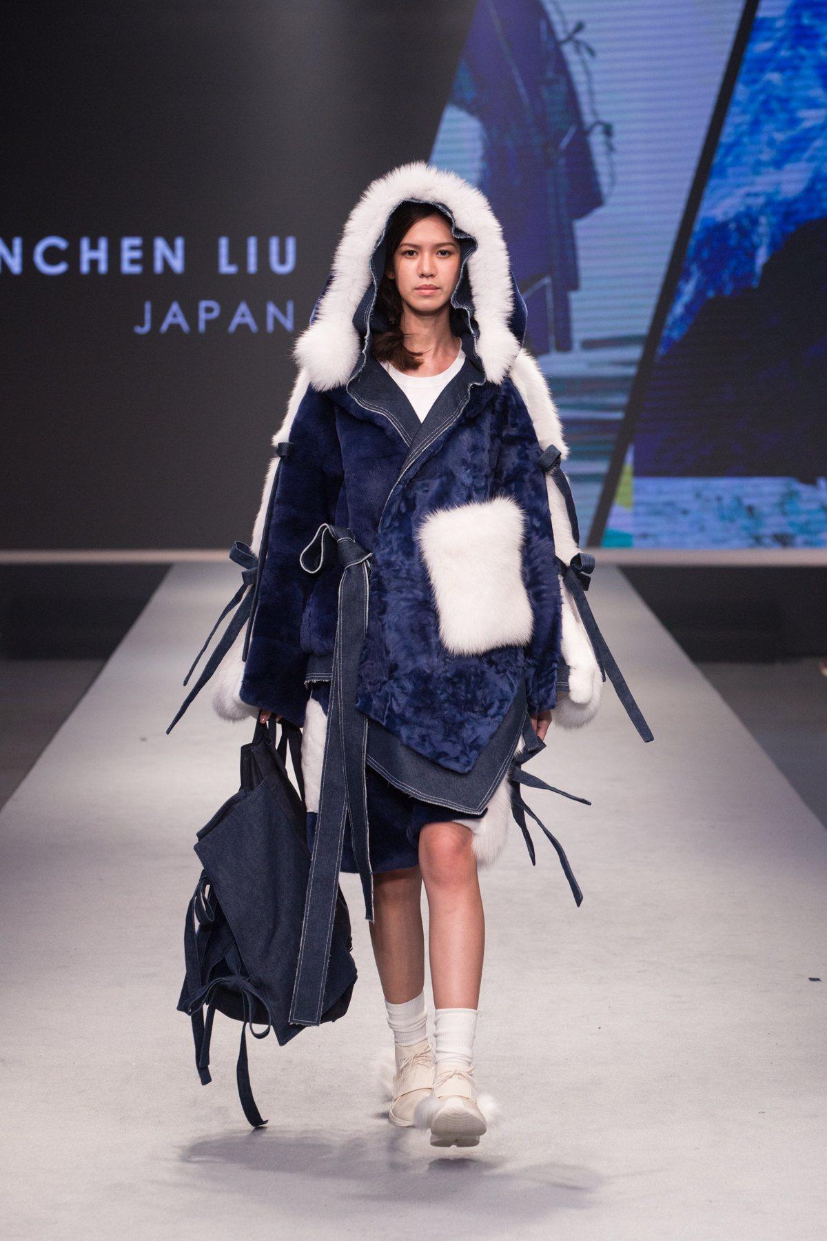 來自日本的Liu Chun Chen獲得女裝組設計首獎的作品。圖/紡拓會提供