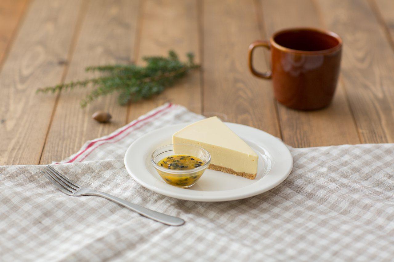 百香果生乳酪蛋糕,售價100元。圖/無印良品提供