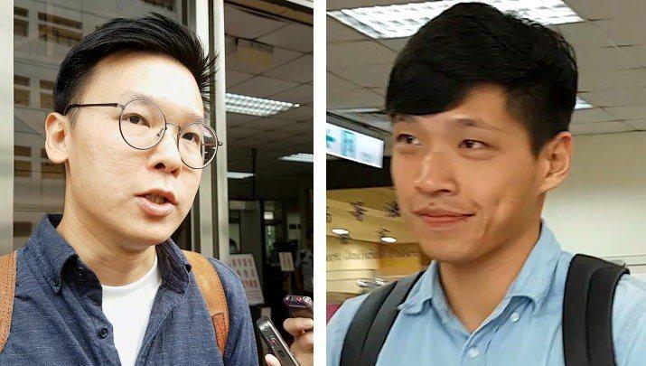 「太陽花學運」要角林飛帆(左)、陳為廷。 本報資料照片